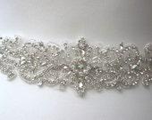 pearl sash Bridal belt rhinestone belt wedding belt