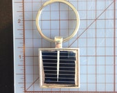 Solar Panel Key Ring - Silver Plated
