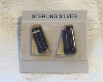 Solar Panel Earrings - Sterling Silver Studs