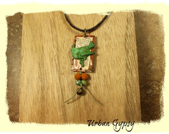 Nature Inspired Vintage Inspired Boho Chic Cottage Chic Urban Gypsy Pendant Necklace Indianapolis Artist
