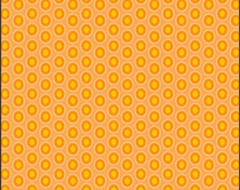 Oval Elements By Art Gallery Dots in Papaya 1 Yard