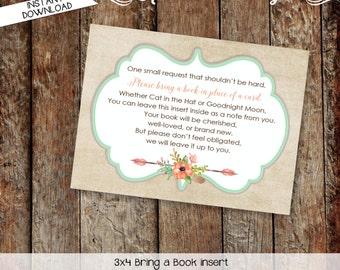 Bring a Book INSTANT DOWNLOAD item 1445 insert enclosure card build a library