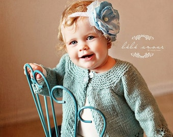 Gracie Baby Sweater PATTERN for Baby Gift, Baby Girls, Lace Knit for Baby, Newborn to 12 Months sizes, Cardigans, Cardi, Lace, Classic