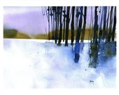 Fine art print from original watercolor painting by Paul Bailey: Standing by