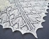 "Shawl pattern ""Precious Lace"". Lace wrap, scarf, triangular shawl. Original design. PDF pattern. LaceKnit design"