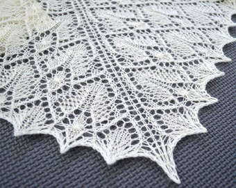"Shawl pattern ""Precious Lace"". Lace wrap, scarf, triangular shawl. Original design. PDF pattern. LaceKnit design"