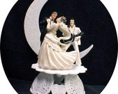 DANCE Elvis Presley King Las Vegas Wedding cake topper Funny WHITE Jumpsuit top