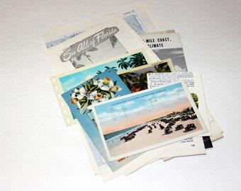 Florida - United States Vintage Travel Collage Kit