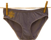 Sheriff's Badge Gray Women's Underwear - Recycled Cotton - Women's 4 - Ready to Ship