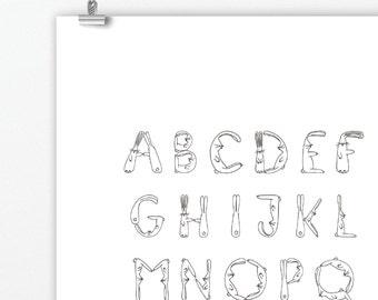 A4 Bunny Rabbit Alphabet