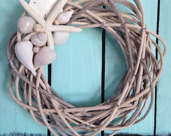 Beach Wreath - Reed Beachy Wreath-Coastal Wreath-The Hamptons Wreath-Annie Gray Design-New England Wreath-Florida-Starfish Decoration-Shells