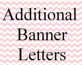 Additional Banner Letters