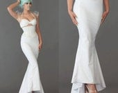 Long WHITE Mermaid skirt from Artifice Clothing (made to order sample)