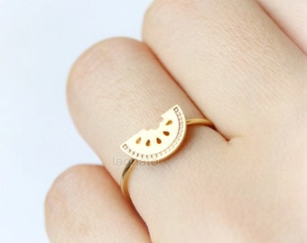 Watermelon  Ring / fruit ring, choose your color, gold, silver