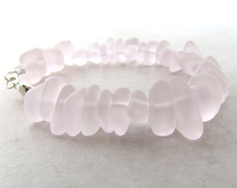 Seaglass Bracelet, Sea Glass Bracelet, Beach Wedding, Beach Jewelry, Beach Bracelet, Ocean Bracelet, Pink Seaglass
