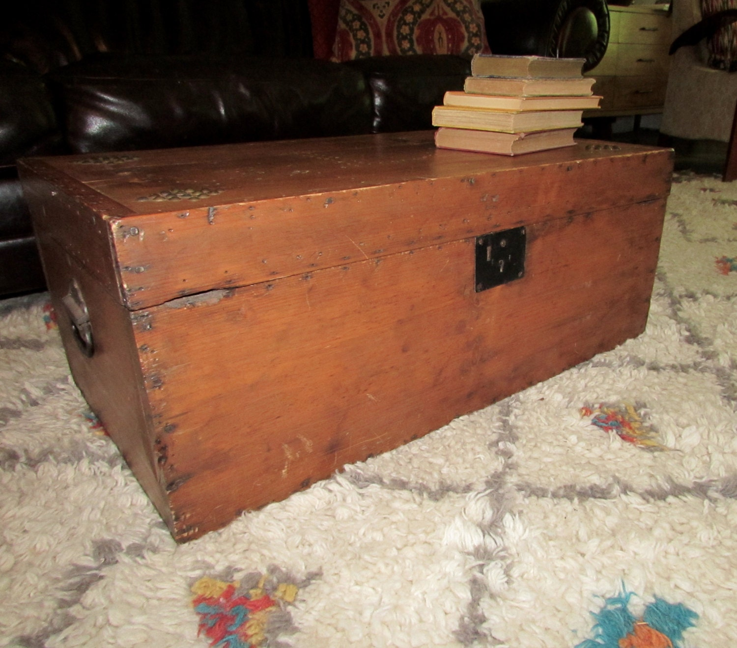 Antique Chest Trunk Coffee Table Haute Juice