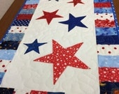 Patriotic Table Runner or Wall Hanging, Free shipping