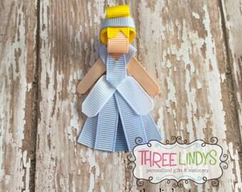 Cinderella Hair Clip, Ribbon Sculpture, Princess Hair Bow, Princess Hair Clip