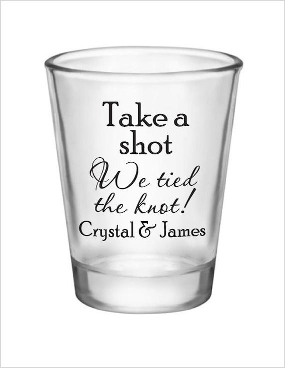 Wedding Favor Boxes For Shot Glasses : Wedding Shot Glasses 144 Custom 1.5oz Wedding Favor Glass Shot Glasses ...