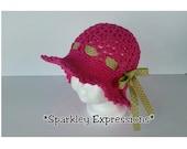 Crochet Summer Sun Hat-Kids Sun Hats-Infant Photo Prop-Womens Fashion Hat-Teen Fashion Summer Hat-Toddler Brim Hat-Summer Hat W/Ribbon-