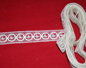 Antique Bobbin Insertion Lace- almost 3 yards