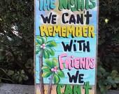 Tropical Paradise Pool Patio Beach House Hot Tub Tiki Bar Hut Parrothead Handmade Wood Sign Plaque