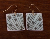 Window Pane Earrings - Recycled China - Material and Movement