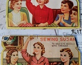 Vintage Sewing Needle Books Sewing Susan 2 Used Books