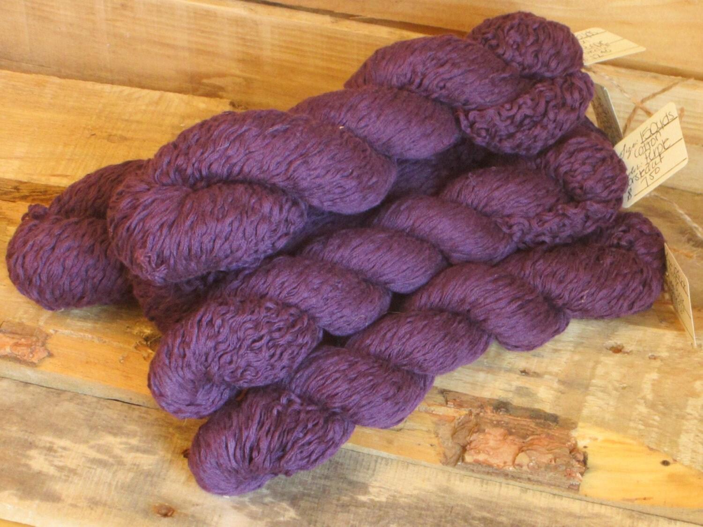 Deep Purple Cotton Yarn Worsted Weight 230 Yards Royal