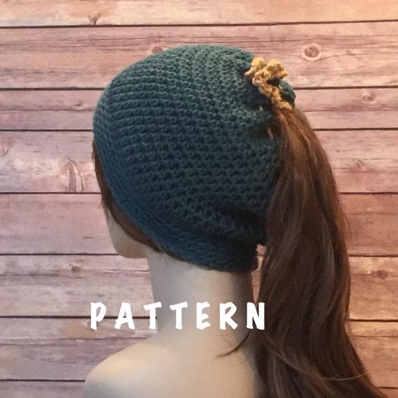Free Ponytail Hat Pattern Hat Pattern Ponytail Hole