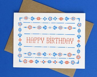 Granada Happy Birthday // Letterpress Printed Card