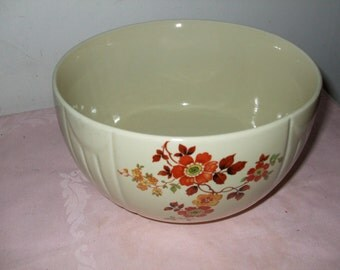 "Hall China Radiance Bowl ""Autumn Flowers"""