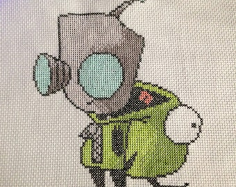 Can I Be a Mongoose Dog? - Invader Zim cross stitch