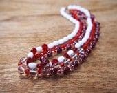 Art Deco Glass Necklaces x 3