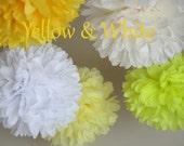 "Tissue Pom poms Set of 5 Mixed 10 "" Weddings. summer parties. Bridal Showers Birthdays.Pinks Tissue Paper"