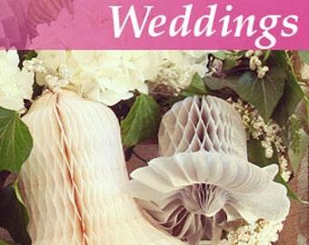 Ivory Honeycomb Bells Weddings. summer parties. Bridal Showers Birthdays.Ivory Honeycomb Balls