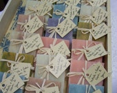 Rustic favors, 50 assorted bars, handmade soaps, bridal shower favors, 3 oz bars. Smell so good.