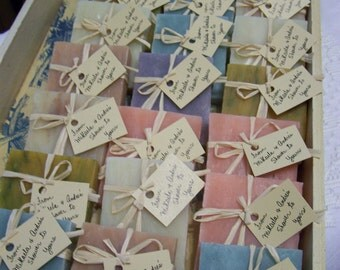 bridal shower favors, 40 assorted bars, handmade soaps,handmade, organic soaps, 3 oz bars, medium size. Smell so good.