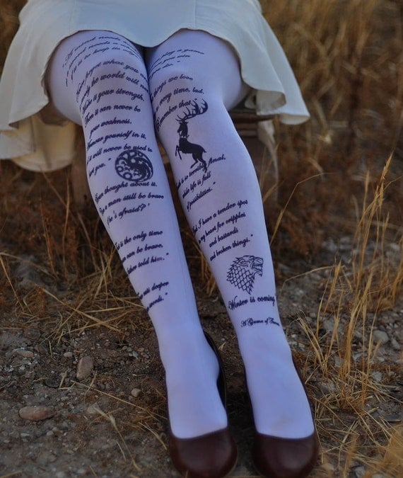 A Game Of Thrones Inspired Clothing Tights - Quotes and symbols - tights in colors - women clothing - unique gifts