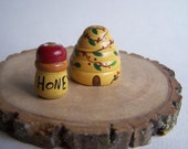 BEE SKEP and Honey pot for Fairy garden, doll house accessory