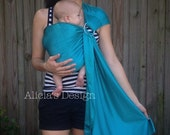 Reserved Listing - Ready to Ship - Water Sling in Teal - Perfect for Summer - Newborn to 35lbs. - Quick Dry and Lightweight