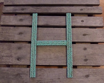 12 Inch Rope Letter Nautical Personalize Nautical Nursery Decor Kids Room One Letter