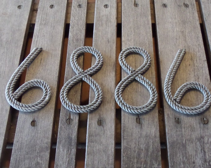"8"" Rope Letters Numbers Personalize MADE TO ORDER Alphabet Nautical Decor Text Letters Natural or Green Nautical Nursery"