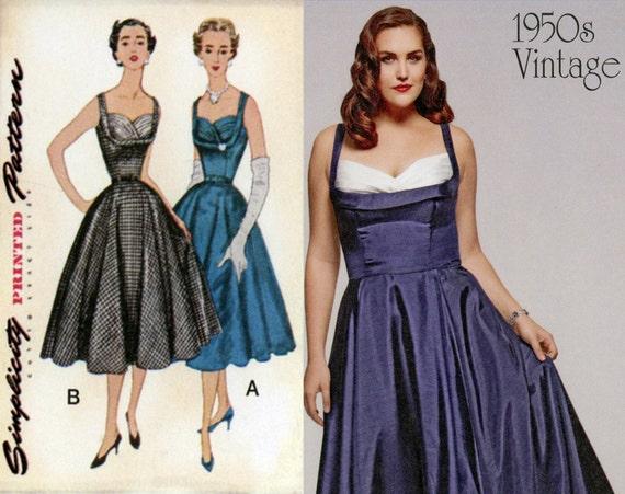 Items Similar To 1950s Dress Pattern Uncut Simplicity 1155