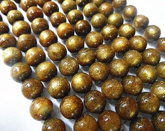 Natural Golden Coral 4mm/5mm/6mm/8mm/10mm Round beads Genuine Strand Semiprecious Gemstone 15'', 38 cm- 15''L Jewelry Supply Wholesale Beads