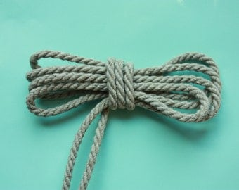4 mm Linen Rope = 5 Yards = 4.57 Meters Natural Linen Cord - Natural Color - Organic Natural Fiber Cord - Decorative Rope