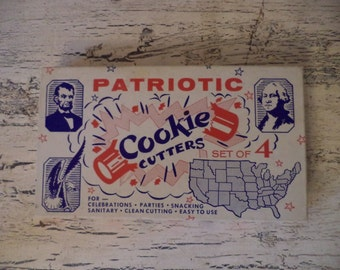 Vintage Patriotic Cookie Cutters - Red White and Blue - July 4th Decorations - 2 Day Delivery!
