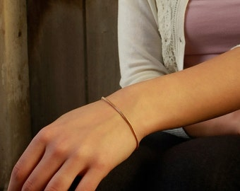 ON SALE 30% OFF Snake Bracelet Gold Vermeil 18k , Thin Chain Bracelet , Everyday Minimalist Jewelry