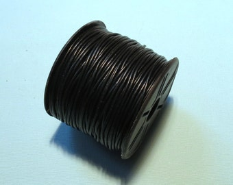 10 Meters of 1.5mm LEATHER Cord - Black