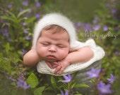 Angora Bonnet- Newborn Size- Photography Prop